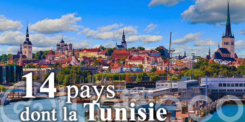 L'Estonie rouvre ses frontières à 14 pays dont la Tunisie