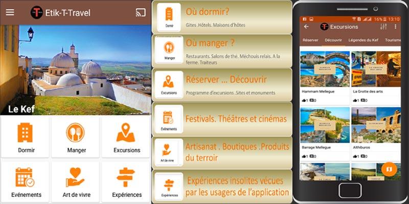 ETIK-T-TRAVEL : La première application dédiée au tourisme au Kéf