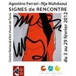 Vernissage de l´exposition 'signes de rencontre´ de l´artiste italien Agostini Ferrar