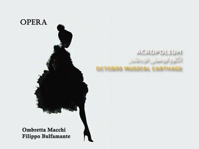 La pièce d'opéra Extase & Passions à l'Octobre Musical le 22 octobre à l'Acropolium de Carthage