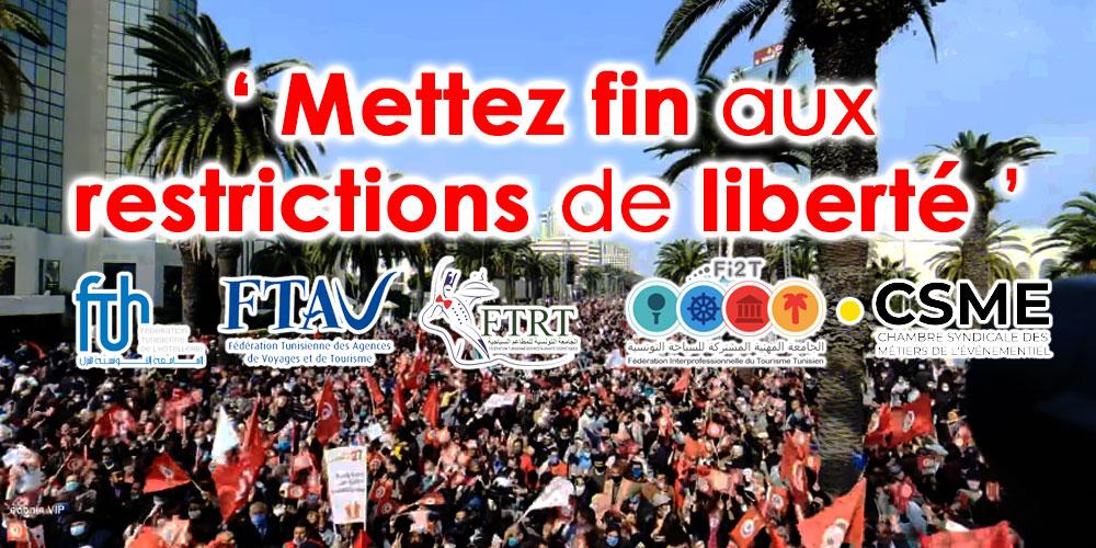 Les fédérations demandent de mettre fin aux restrictions de liberté pour tous les citoyens