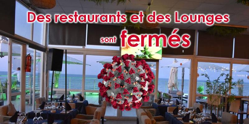 Des restaurants et des Lounges ferment leurs portes