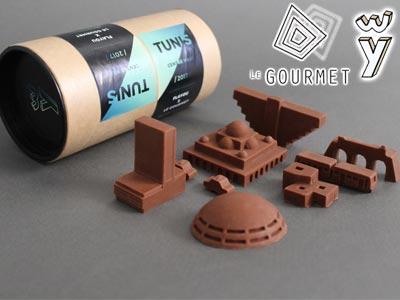 Croquez Tunis à pleines dents avec ces miniatures du centre-ville en chocolat !