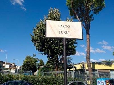 Inauguration de la place 'Tunisie' à Florence en Italie
