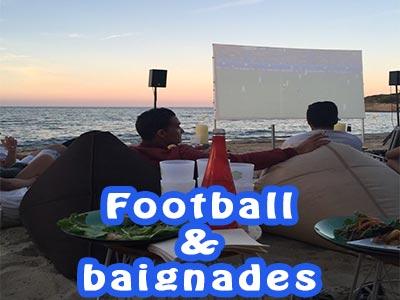 Baignades et Football : Regardez la Finale de la Coupe du Monde 2018 aux beach bars