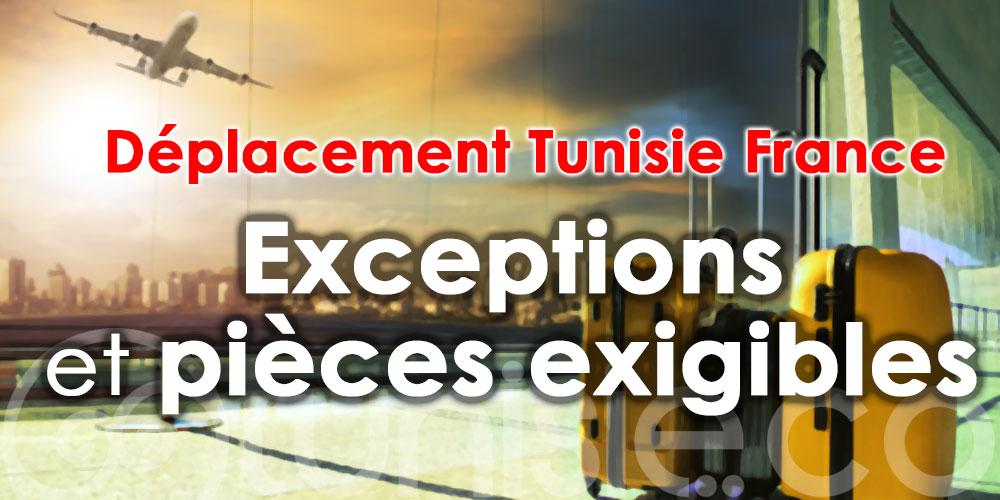 Déplacement Tunisie France : Exceptions et pièces exigibles