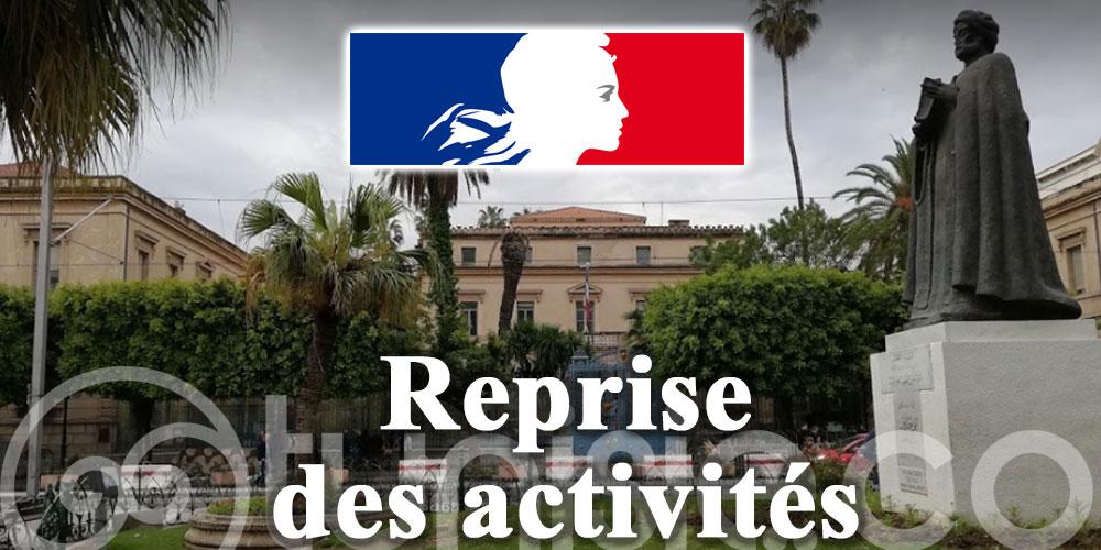 Ambassade de France: Reprise des activités du Consulat général