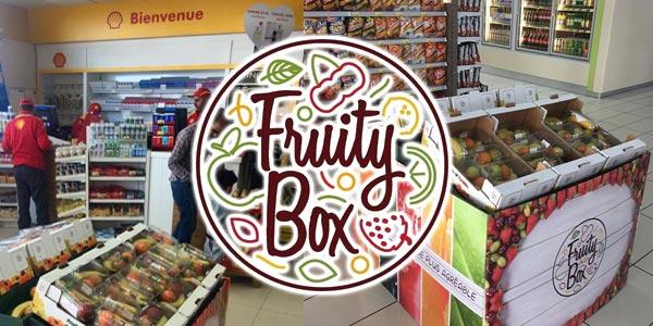 Fruity Box aux Stations d'essence Shell : Des fruits variés pour un voyage plus agréable !