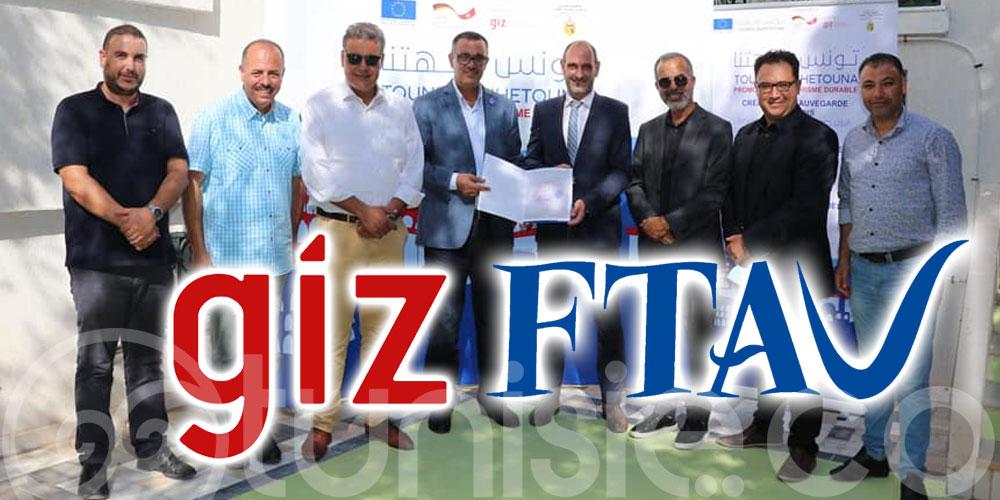 Cérémonie de signature d'une convention de Partenariat entre la FTAV et la GIZ