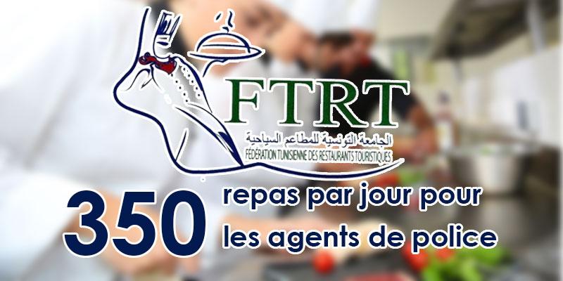 FTRT: Les Restaurateurs offriront 350 repas par jour pour les agents de police