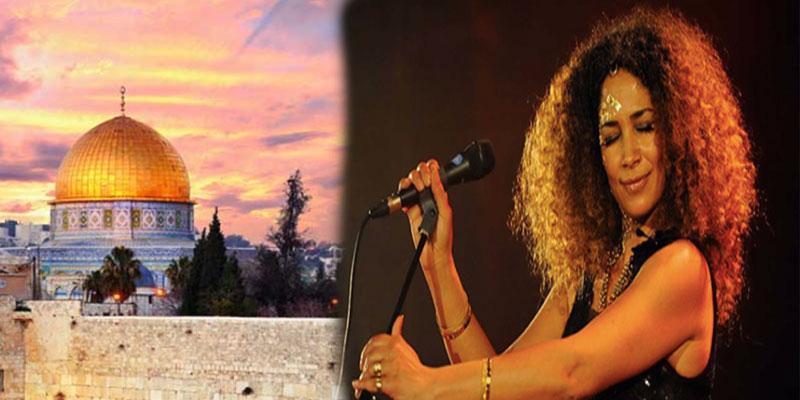 Ghalia Ben Ali chante en Palestine