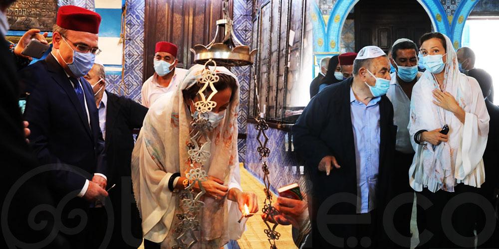 En photos : Audrey Azoulay visite la synagogue de la Ghriba à Djerba