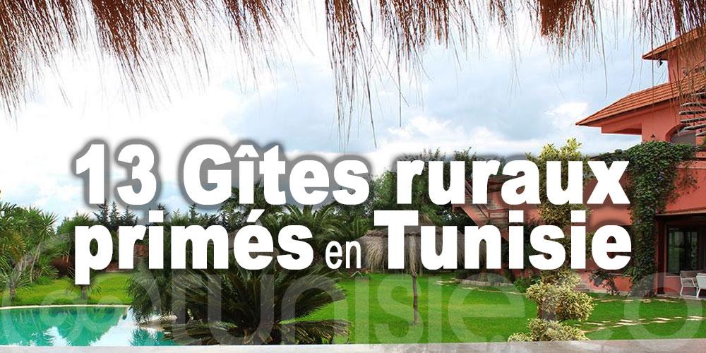 Les 13 Gîtes ruraux primés en Tunisie