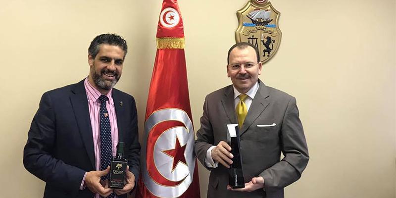 Karim Fitouri félicité par l'ambassadeur tunisien aux Etats Unis