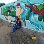 En photos : Quand une jeune tunisienne embellit les rues de M'saken