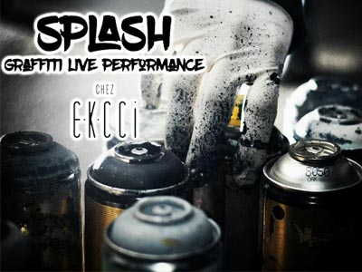 Graffiti live performance chez EKCCI à La Marsa le 3 août