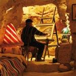 Journée avec visite à la grotte-atelier de l'artiste Ammar Belghith à Dahmani au Kef