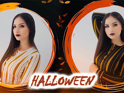 En photos : Même Maryoul Fadhila fête Halloween