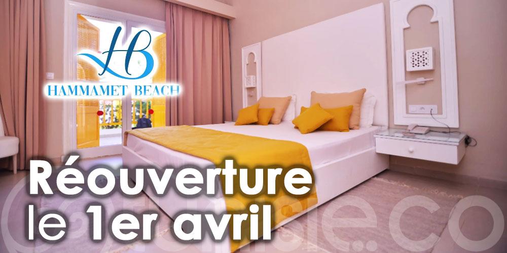 Réouverture de l'Hôtel Hammamet Beach le 1er avril 2021