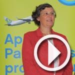 Hélène Abraham, vice présidente présente la stratégie de communication de Transavia.com
