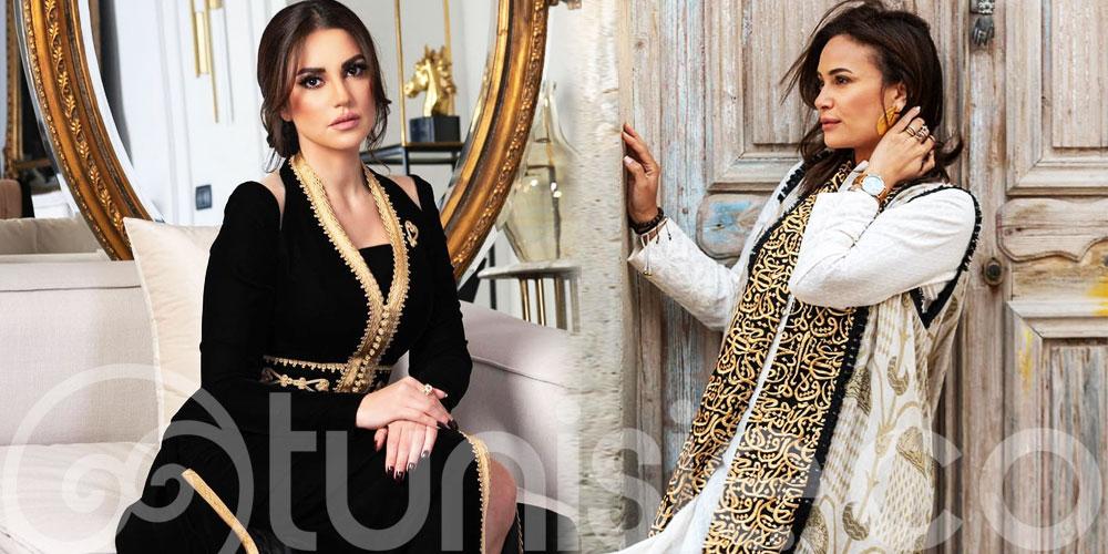 Hend Sabri et Dorra Zarrouk sublimes dans des habits traditionnels
