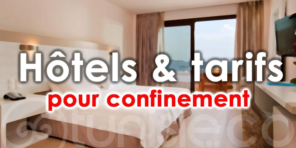 Liste des hôtels pour confinement en Tunisie - Août 2021