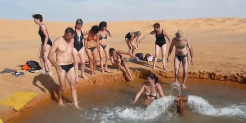 Houidhat Erreched, la plus belle source d'eau chaude pour se baigner dehors pendant l'hiver