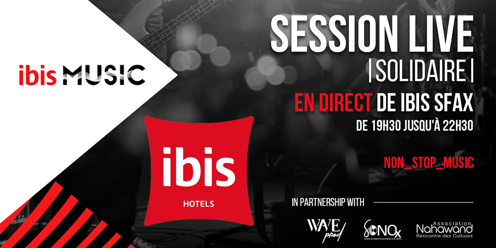 Session live 'solidaire' en direct du Ibis Sfax
