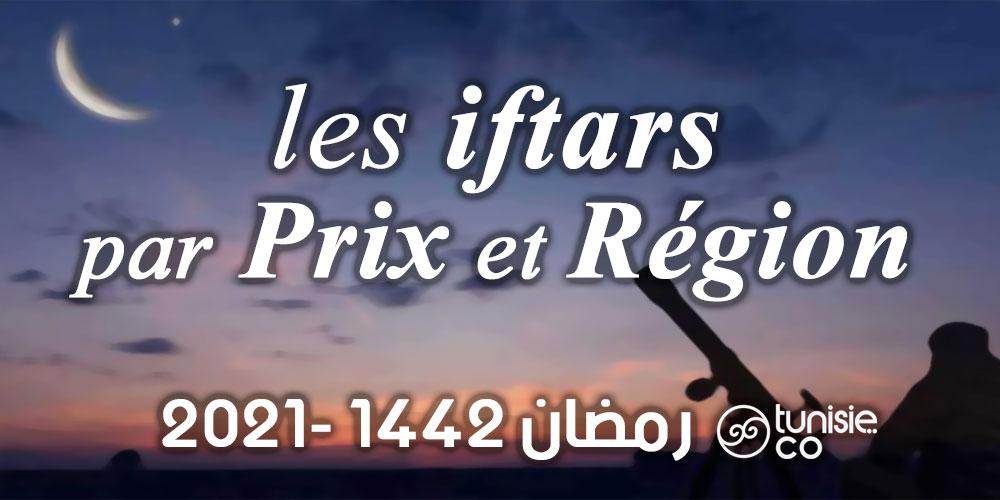 Liste des Iftars par Prix et Région pour l'année 2021 - 1442