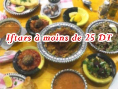 Les bons plans Iftars savoureux à moins de 25 Dinars