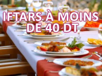 Les bons plans iftars à moins de 40 DT en Tunisie