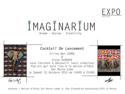 Expo-Vente ''Imaginarium'' à Dar Marsa Cube