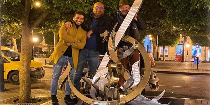 Inkman installe une très belle œuvre à l'avenue Habib Bourguiba