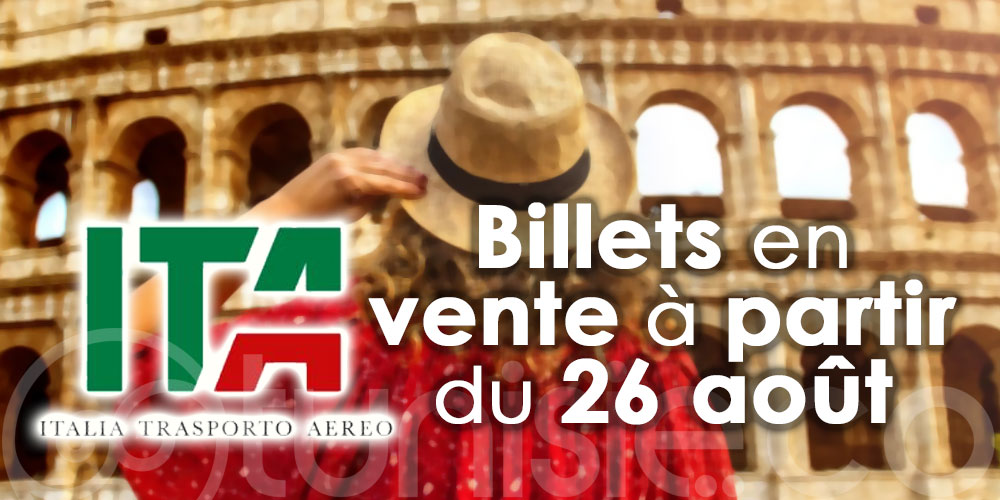 La nouvelle ITA lance les ventes et la destination Tunis y figure