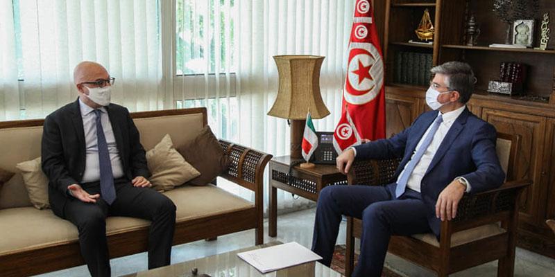 أهمية التعاون القائم بين تونس و إيطاليا في المجال السياحي وسبل مزيد تطويره، محور لقاء التومي بلورانزو فانارا