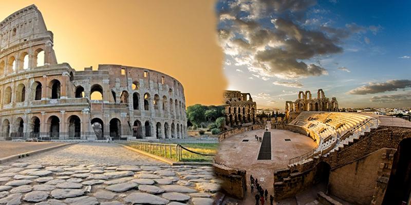Signature d'un accord de jumelage entre le Colisée de Rome et l'amphithéâtre El Jem