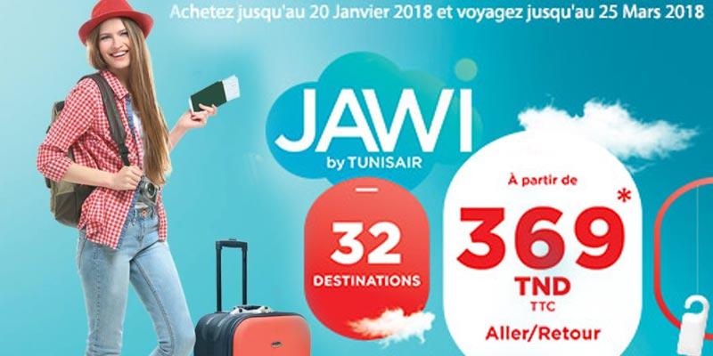 Tunisair lance sa promotion Jawi avec des tarifs entre 369 DT et 499 DT