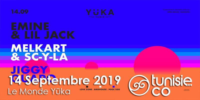 Emine & Lil Jack Melkart & Sc-Y-La Jiggy Guapo at Yüka le 14 Septembre 2019
