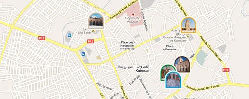 Kairouan Tunisie Carte Carte de Kairouan