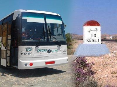 Reprise des lignes de transport interurbain d'El Faouar et Souk Lahad de Kébili vers Tunis