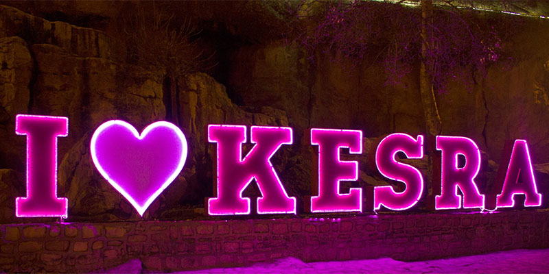 Installation d'une fresque I LOVE KESRA