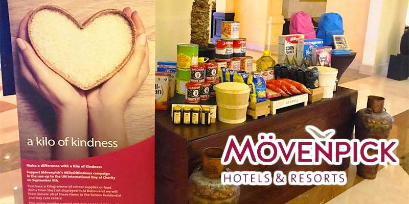 Les généreux clients de Môvenpick Hotels & Resorts ont fait don de 8500 kilos de gentillesse