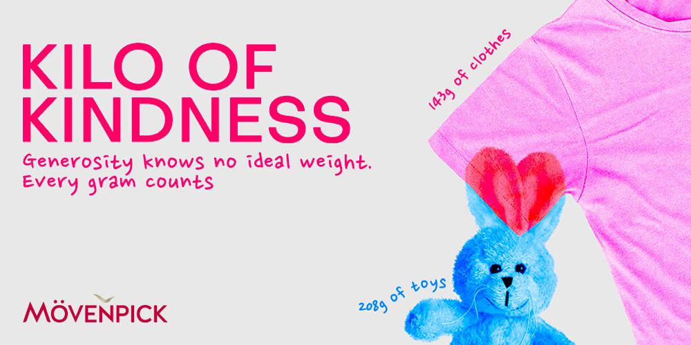 Les Mövenpick participent à la campagne bénévole 'Kilo of Kindness'