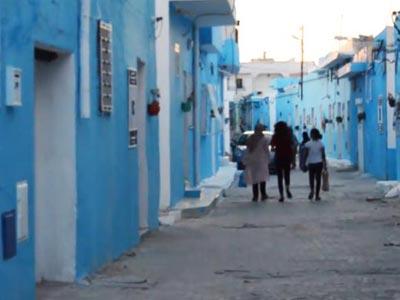En vidéo : La transformation Ksibet el Mediouni en magnifique village bleu