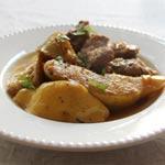 Découvrez la recette de Lahmet Sfarjel garnie de Mhamsa Chitwia par chef Nèbil Rokbani