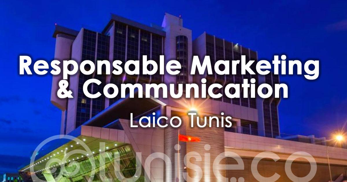 Le Laico Tunis recrute son Responsable Marketing & Communication