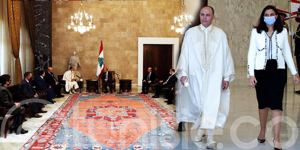 En Jebba, l'ambassadeur Bouraoui Limam rencontre le président libanais