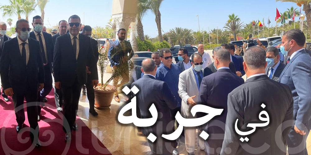 وزير الداخلية الليبي في جربة لمناقشة عودة حركة المسافرين