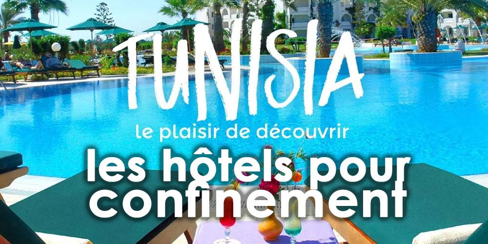 Liste des 15 hôtels disponibles pour le confinement
