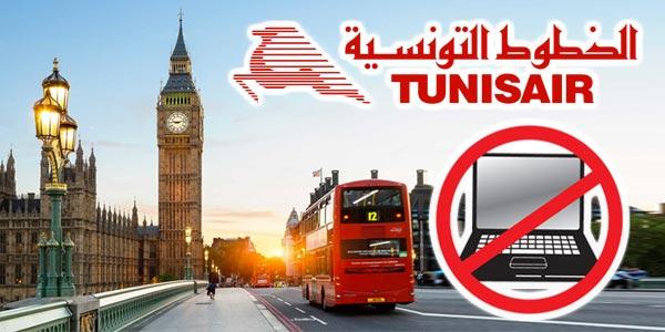 Les tablettes et ordinateurs seront interdits sur les vols Tunisair vers Londres